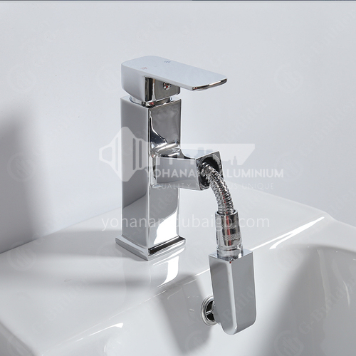 Toilet spray gun full copper hot and cold water faucet bidet nozzle bathroom cleansing water gun flusher household high pressure-pull out model