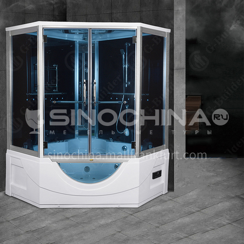 Integrated steam shower room    integral bathroom   sliding door   with bathtub    household shower room