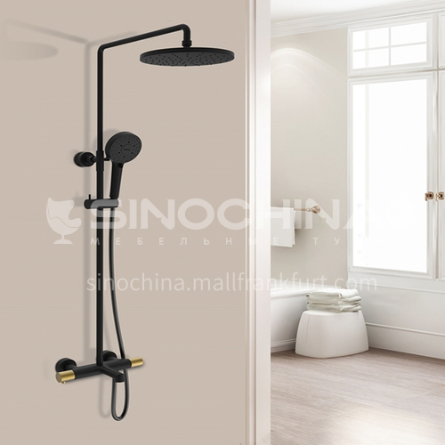 HIMARK Smart Thermostatic Health Shower Simi Series Big Top Spray Shower Set With Replacement Handle 1445539B Matte Black