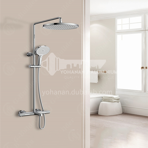 HIMARK Smart Thermostatic Health Shower Simi Series Large Top Spray Shower Set With Replacement Handle 1445500.977 Chrome