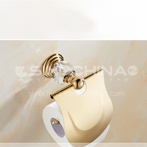 European classical stainless steel golden crystal paper towel holder80106SJ
