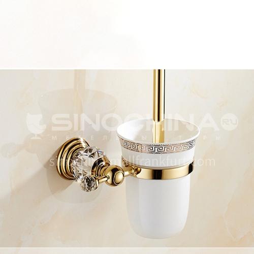 European classic stainless steel golden crystal gold-plated toilet brush80108SJ