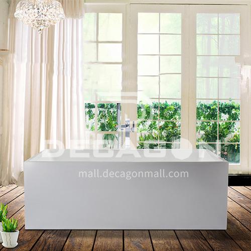 Acrylic bathtub   rectangle shape   freestanding bathtub