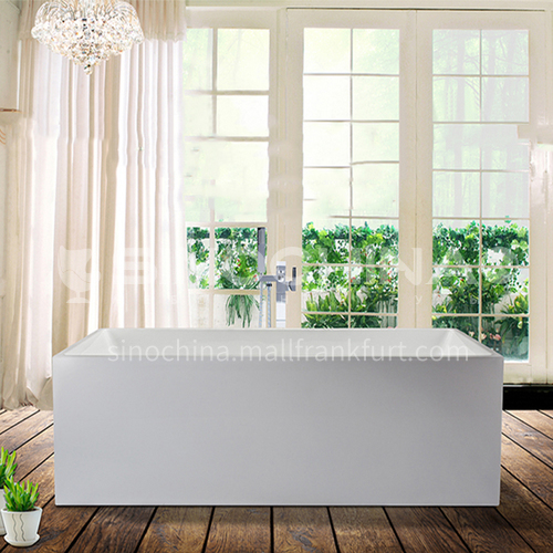 Acrylic bathtub   rectangle shape   freestanding bathtub