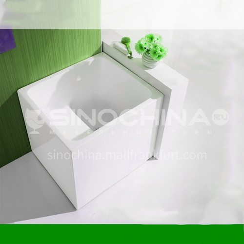 Acrylic bathtub  square shape    freestanding bathtub