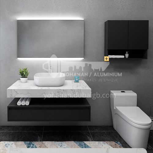 2020 NEW ARRIVAL double basin marble counter top bathroom cabinet#lp712-2