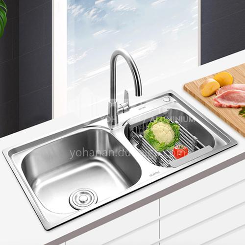 304 stainless steel kitchen sink double basin kitchen basin