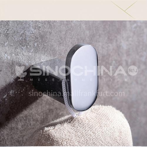 Bathroom accessories Bathroom single coat hook Brass coat and hat hook bathroom pendant coat hook HDP-HI08006