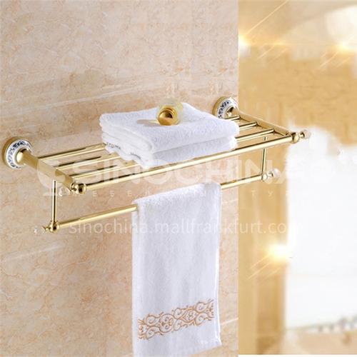 Bathroom Copper double-layer bath towel rack blue and white porcelain series