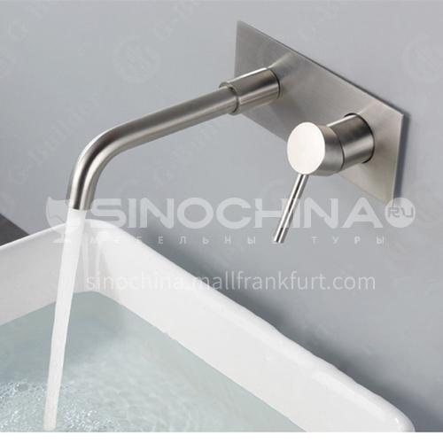 Bathroom wash basin silver built-in faucet  AM1002S