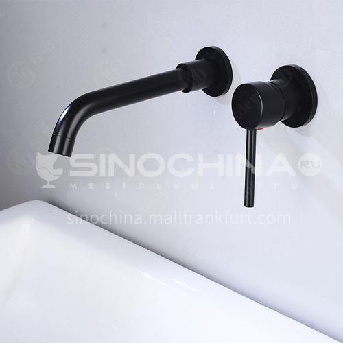 Bathroom wash basin black built-in faucet  AM1002B
