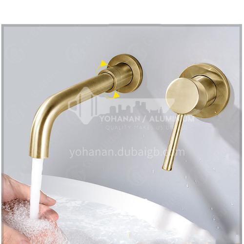 Bathroom wash basin gold built-in faucet  AM1002G
