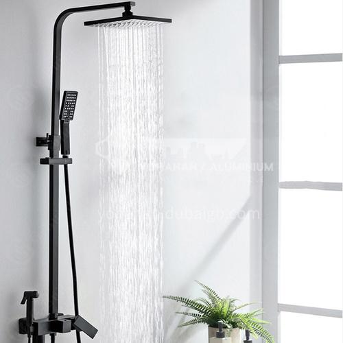Black color four function shower head LW-QQ8024