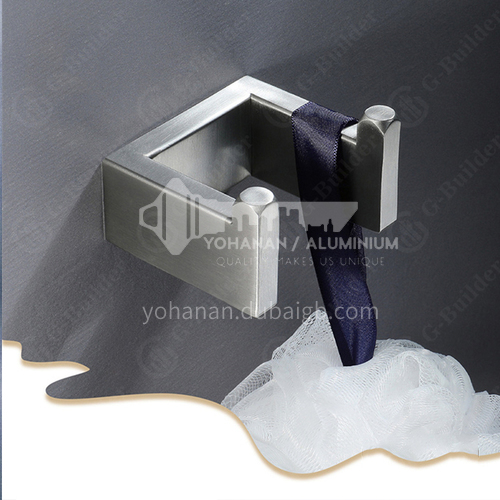 Bathroom accessories 304 stainless steel wire drawing hook clothes double hook HDP-HI08057