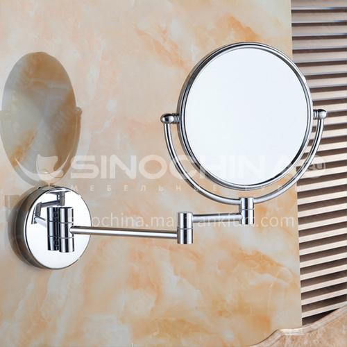 Bathroom hotel retractable copper silver makeup mirror  jsj-1306s