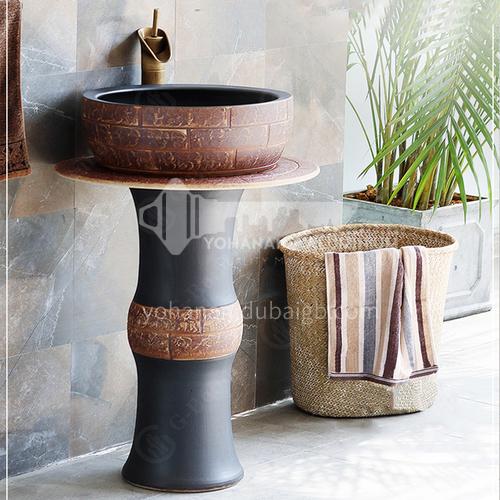 floor mounted wash basin with pedestal