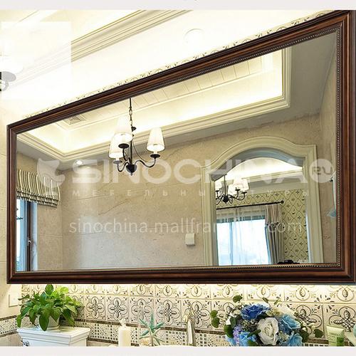 American bathroom mirror makeup mirror retro distressed European style bathroom cabinet mirror wall-mounted bathroom toilet decorative mirror