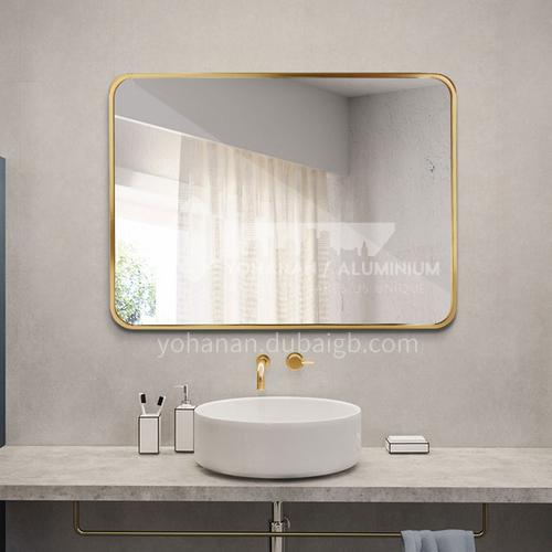 Free punch fillet bathroom mirror bathroom vanity mirror makeup mirror wall bathroom wall