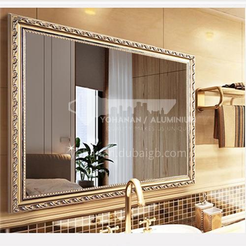 European style bathroom mirror, framed mirror, wall-mounted waterproof vanity mirror