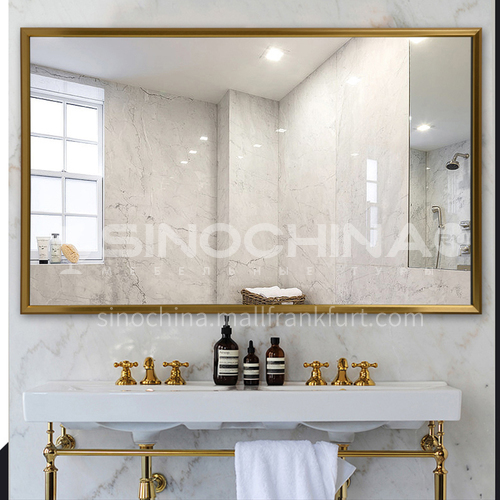 Aluminum bathroom mirror, luxury style bathroom mirror, decorative mirror, vanity mirror