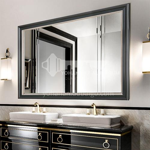 Bathroom mirror retro American European style bathroom cabinet mirror Wall-mounted bathroom vanity mirror can be customized