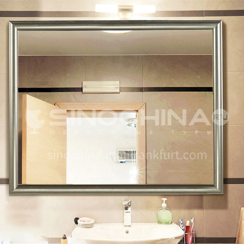 American retro makeup mirror European style bathroom cabinet mirror Wall-mounted bathroom mirror Toilet framed mirror