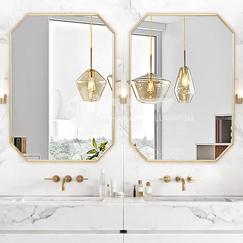 Bathroom mirror modern nordic style vanity mirror wall-mounted long mirror aluminum art octagonal mirror