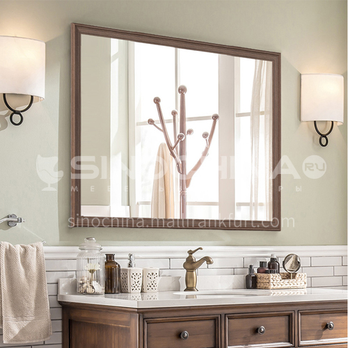 American bathroom mirror retro distressed European style bathroom cabinet mirror wall hanging decorative mirror can be customized
