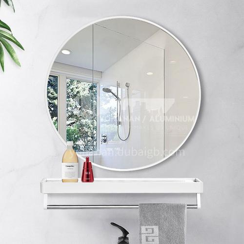 Bathroom bathroom round mirror with shelf wall-mounted mirror, wall-mounted, bathroom mirror without perforation