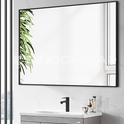 Bathroom mirror with frame bathroom mirror simple and modern wall-mounted toilet vanity mirror custom bathroom mirror