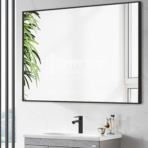 Bathroom mirror with frame bathroom mirror simple and modern wall-mounted toilet vanity mirror custom bathroom mirror