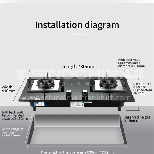 Hisense Tempered Glass Two-burner Natural Gas Cooktop DQ000233