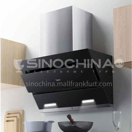 Midea range hood home kitchen large suction side suction type automatic cleaning glass panel range hood DQ000081