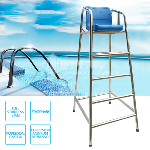 Fixed 201 stainless steel 304 stainless steel swimming pool rescue chair non-removable referee chair rescue chair DQ000838