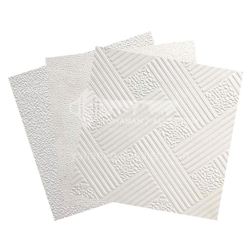 600*600mm laminate PVC Gypsum ceiling Tile