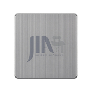 86 type high quality household luxury aluminum wire drawing switch socket-ABL-grey