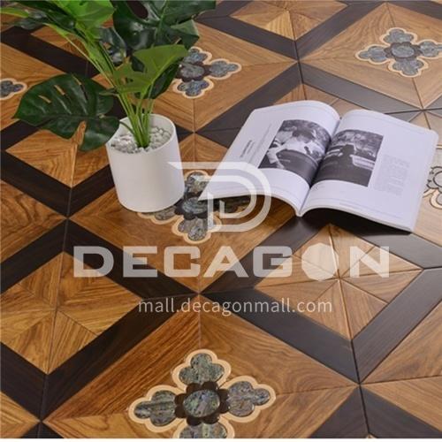 15mm multi-layer solid wood art parquet floor 9082