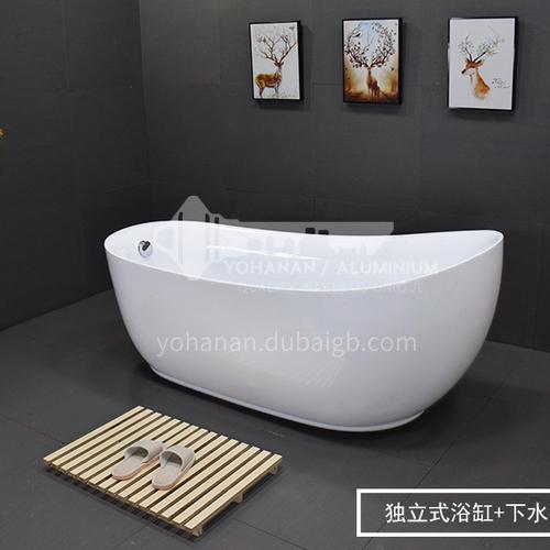 Big Freestanding Acrylic Bathtub 1.5 1.6 1.7 1.8 2.2m Hotel Spa Bathtub